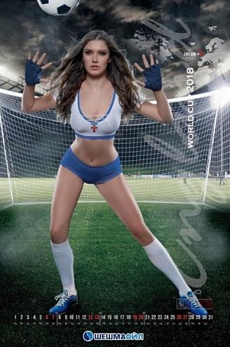 Челнинская красавица в календаре нефтяной компании представила сборную Англии по футболу