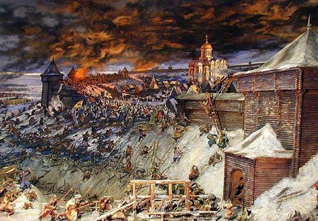 В Челнах войска князя Юрия и Батыя будут биться за взятие крепости Рязани