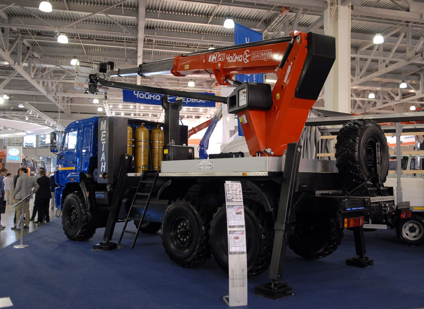 Автогидроподъёмник АГП Т328 на полноприводном шасси КАМАЗ-43114-30