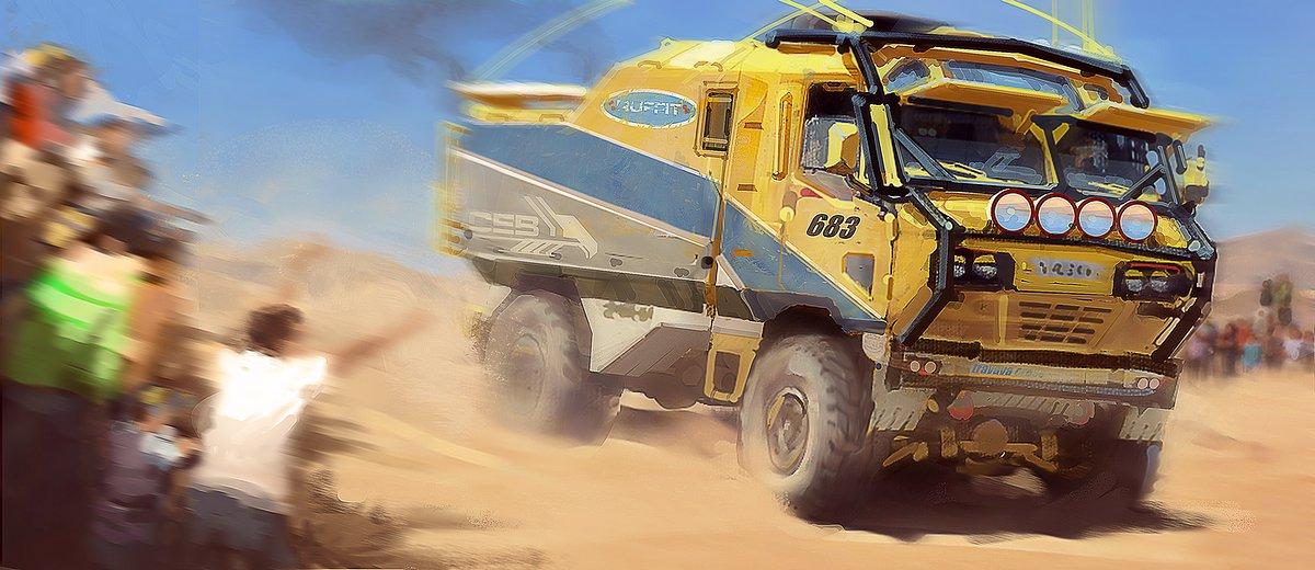 Автомобиль «КАМАЗ-мастер» от визуализатора «Малефисенты» и Warhammer 40000