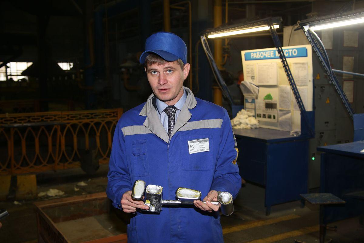 Начальник технологического отдела производства цветного литья Литейного завода ПАО «КАМАЗ» Александр Зорин