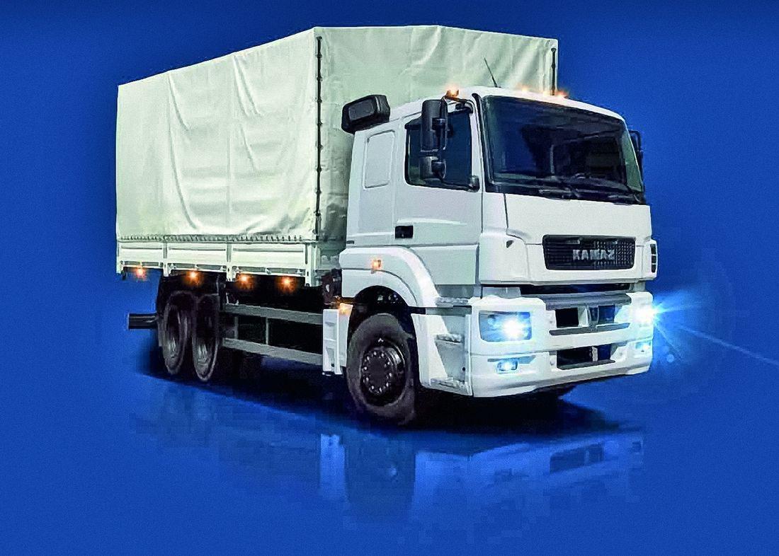 Региональный КАМАЗ-65207 с тентованным кузовом