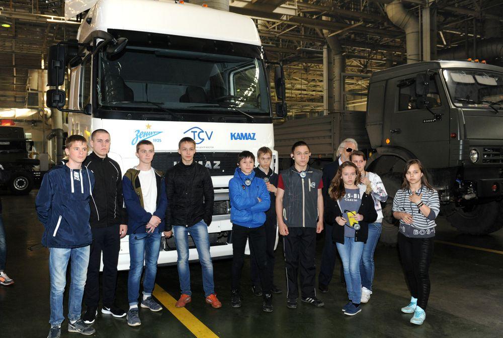 Дети из Елабужского детского дома посетили «КАМАЗ»
