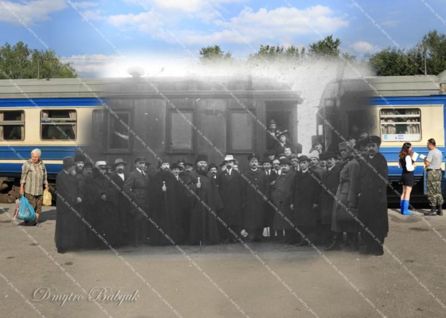 Делегація на міському вокзалі. 1919