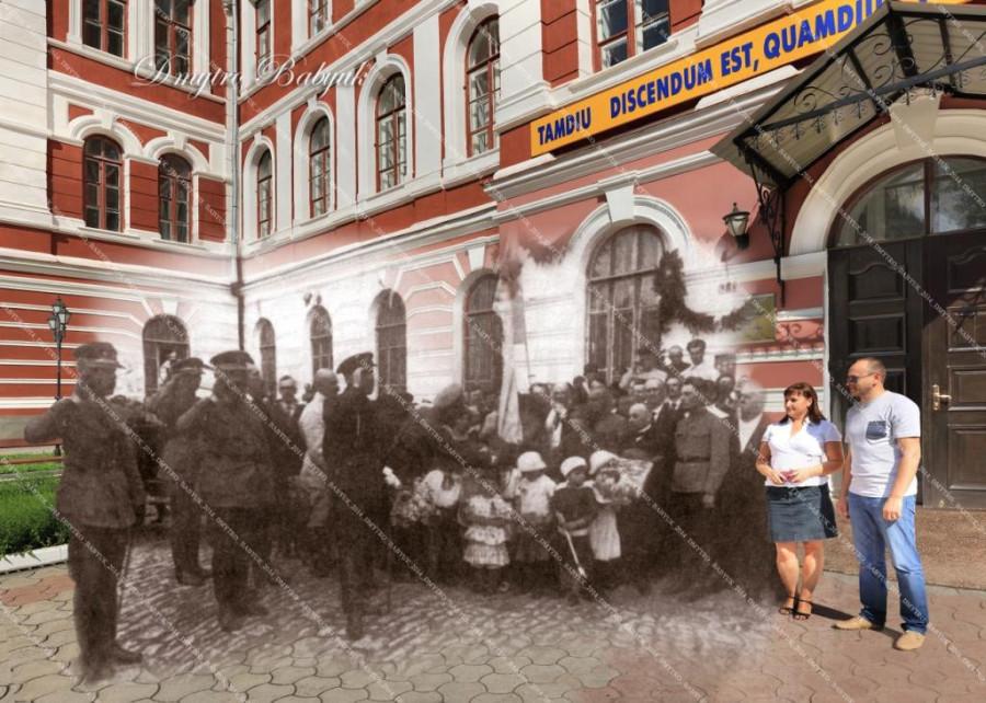 С. Петлюра під час зустрічі з викладацьким складом університету. 1919.