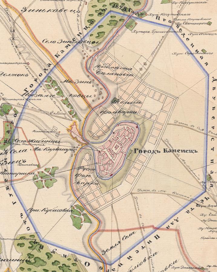 План 1835 фрагмент