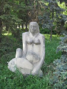 скульптура, сиськи