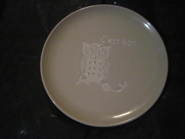 тарелка с совой