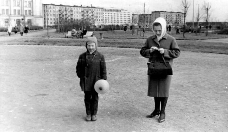 Заневский парк в конце шестидесятых годов