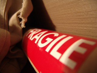 Shipping tube marked fragile