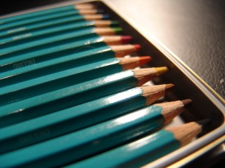 Assorted coloured pencils