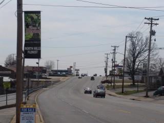 Route 107 (John F. Kennedy Blvd.), a five-lane road through Sherwood, Arkansas