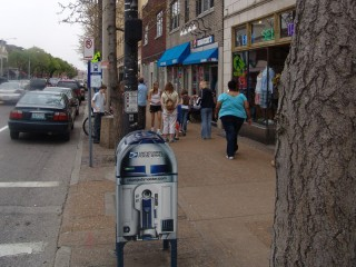 R2-D2 Stickers cover a USPS mailbox on the street