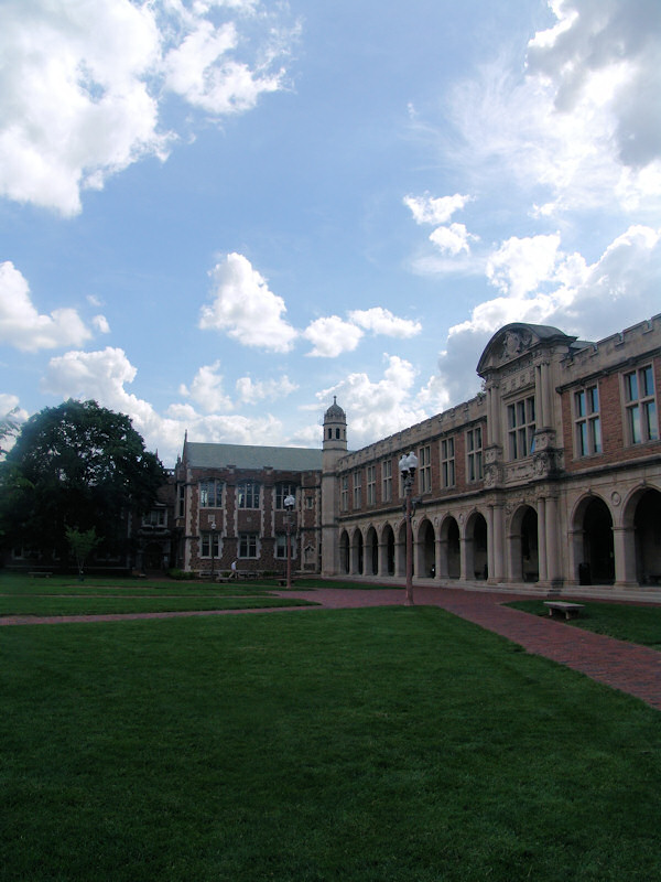 Arches of Ridgely Hall in the Brookings Quadrangle