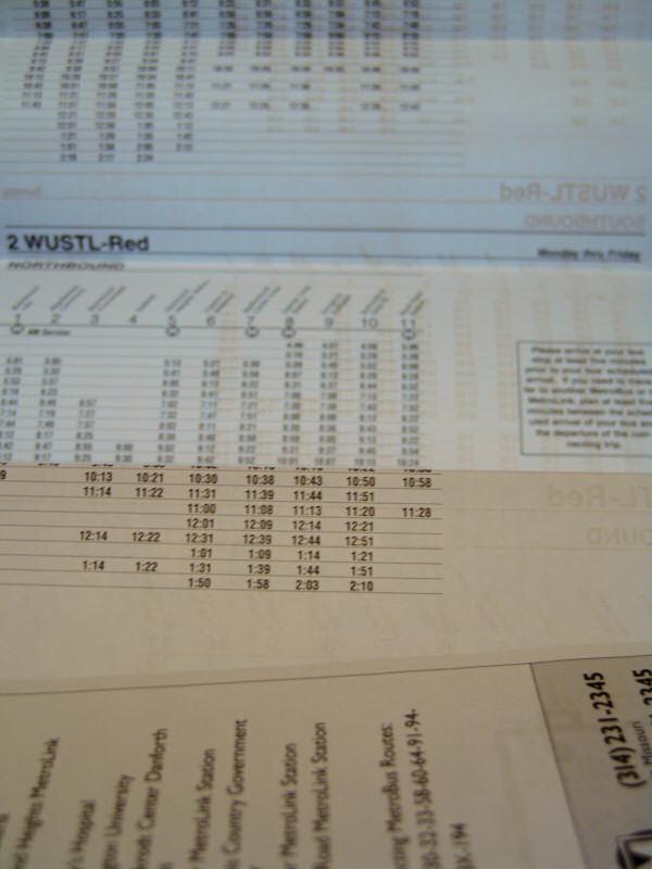 Metro Schedule