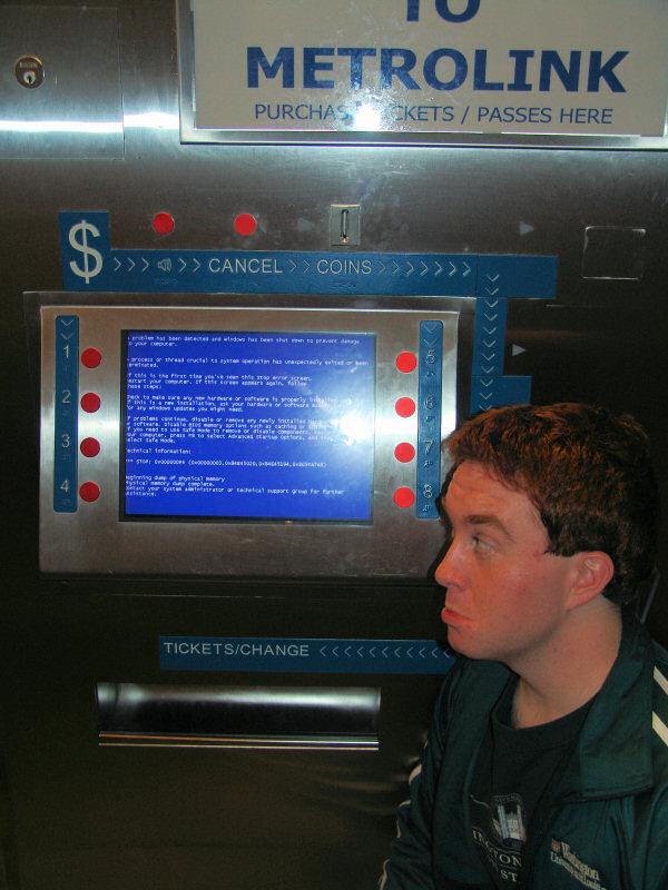 MetroLink Ticket Machine BSOD