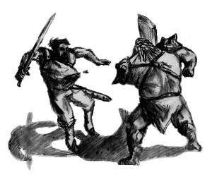 Мужик против орка
