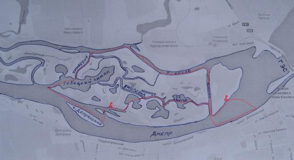 Схема водного маршрута