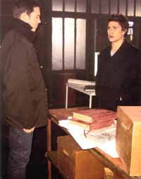 Tom Foss and Kyle in the storehouse