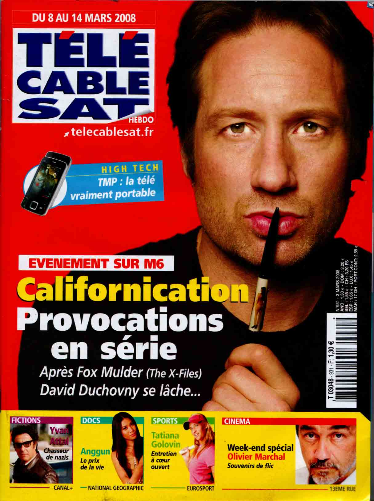Duchovny in Californication, cover