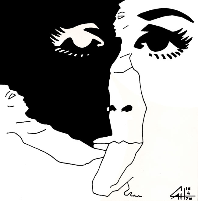 Erotic mmsex drawing, 1970