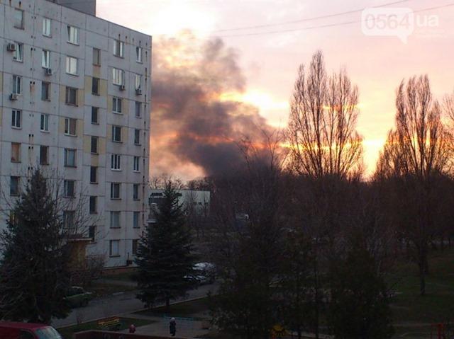 В Кривом Роге на территории 17-й танковой дивизии возник пожар