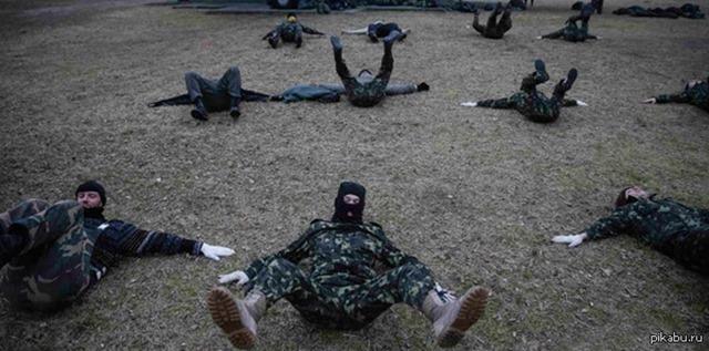 Под Киевом Национальная гвардия Украины проводит учения