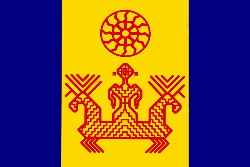Национальный флаг ижоры