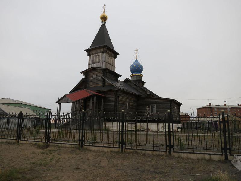 Православный храм в Хатанге. Самый северный храм в России. Ему могло быть более 300 лет, но храм 18 века в 1974 был снесён.