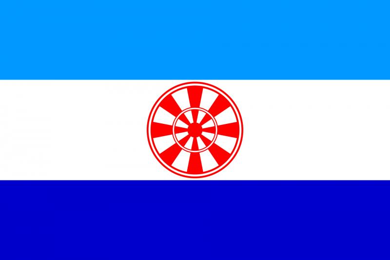 Флаг Эвенкийского автономного округа, затем — Эвенкийского района Красноярского края
