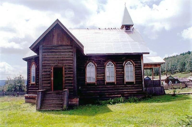 Деревянный костёл в селе Вершина