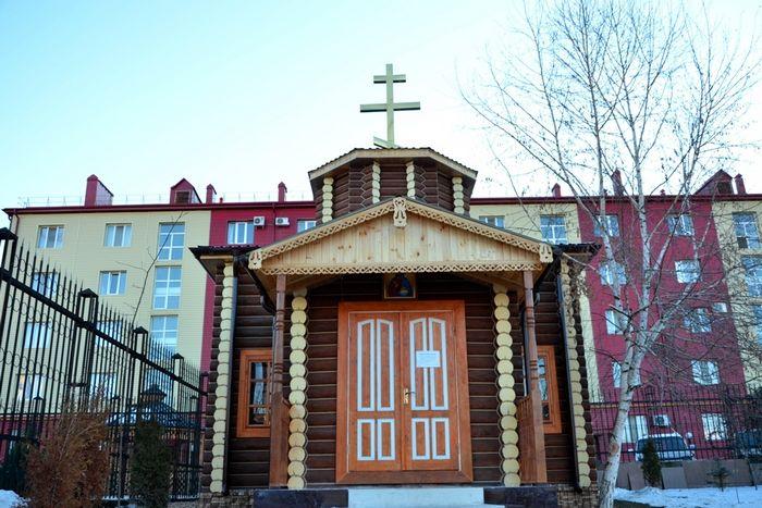 Скромный храм в честь святого праведного Иоанна Кронштадтского, Магас
