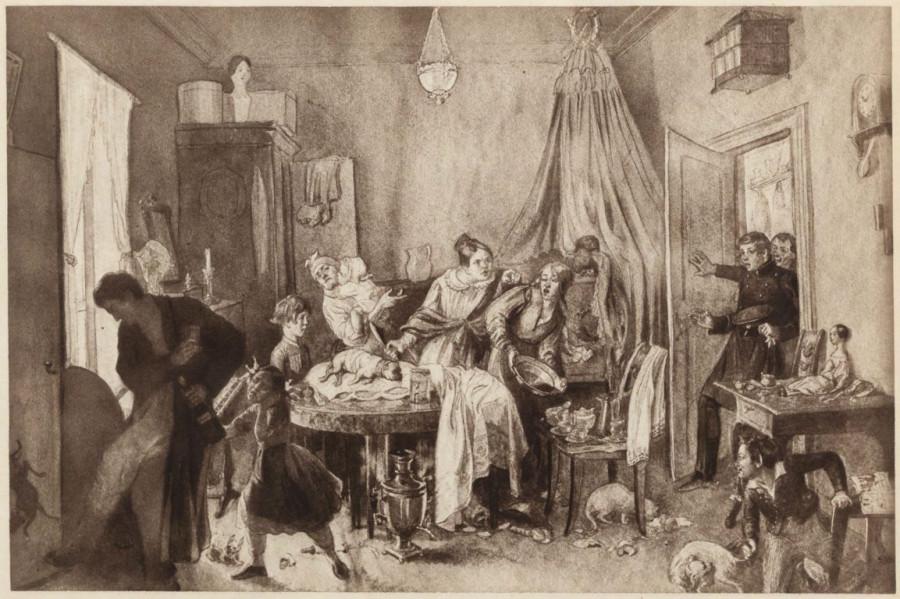 Федотов Болезнь Фидельки 1844 год