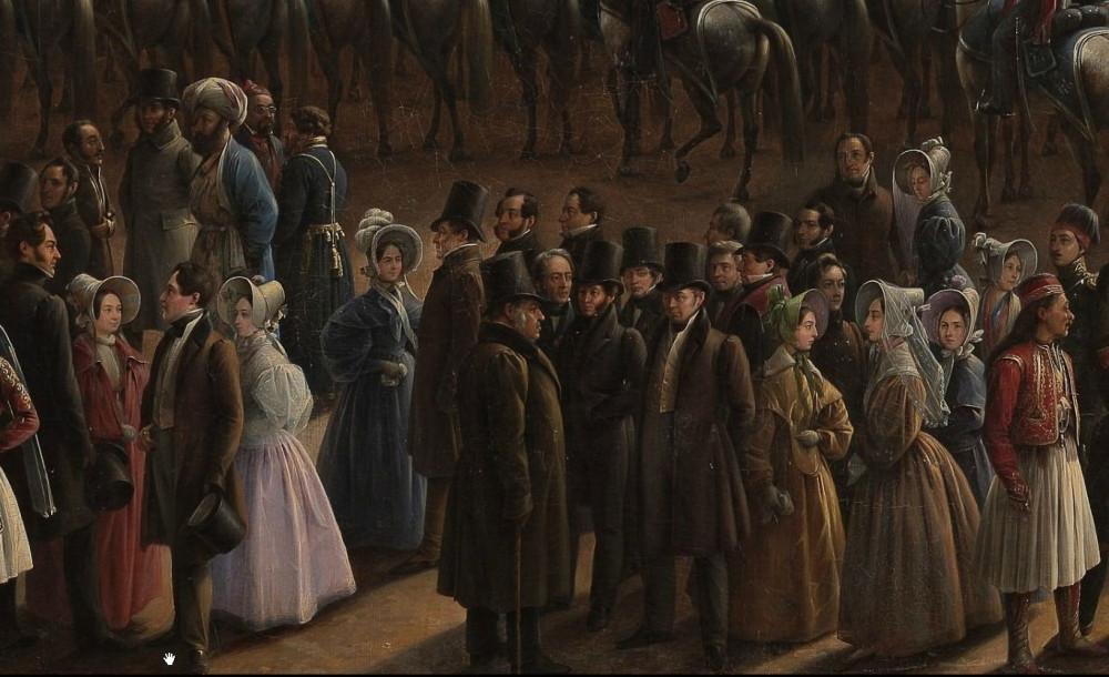 Г Чернецов Парад по случаю окончания военных действий в Царстве Польском 6 октября 1831 года на Царицынском лугу в Петербурге 1837 год фрагмент