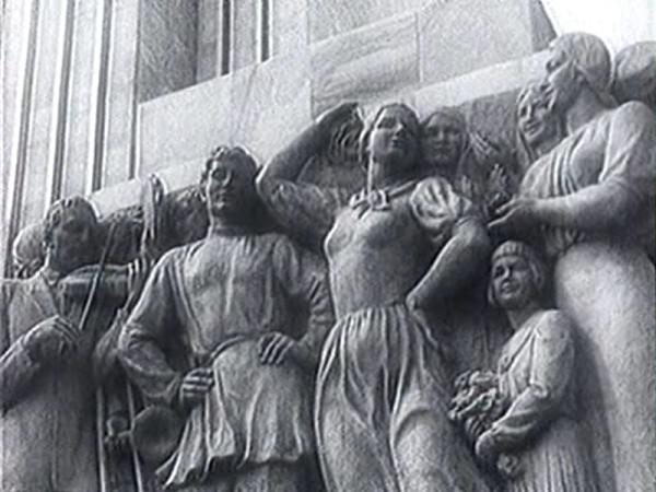 Чайков  барельеф Народное творчество 1937 год