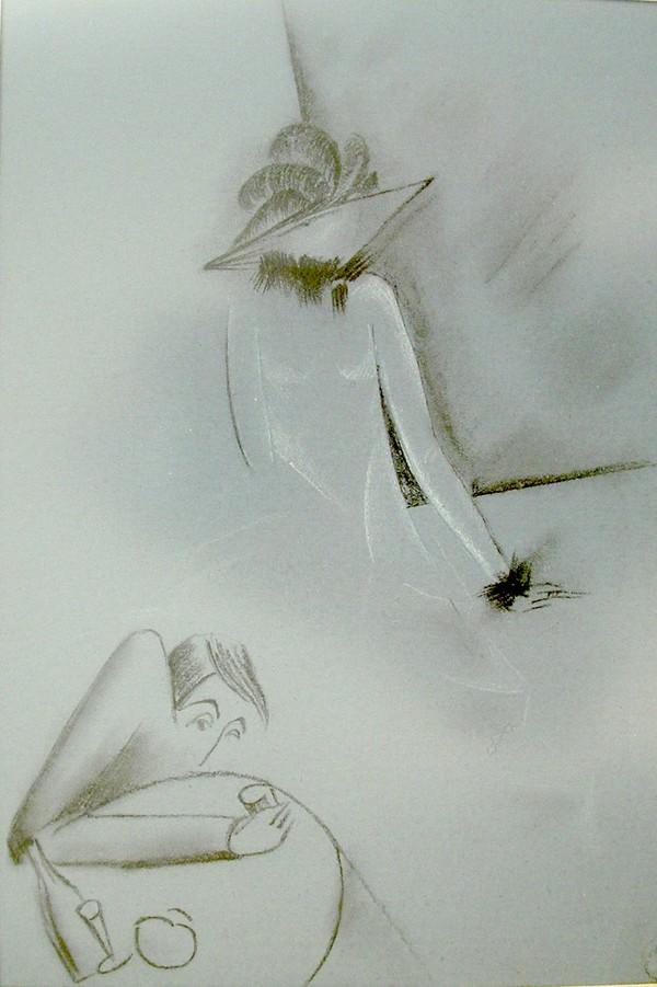 Г А Зимин Иллюстрация к Незнакомке Блока 1920-е годы