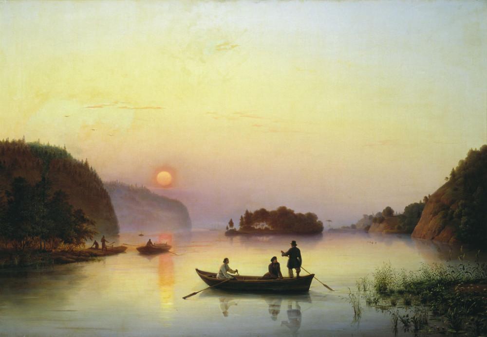 Антон Иванов (1818-1864) Переправа Н. В. Гоголя через Днепр, 1845 год