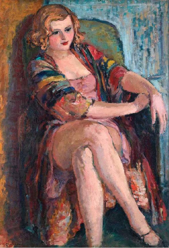 Глущенко Женщина сидящая в кресле