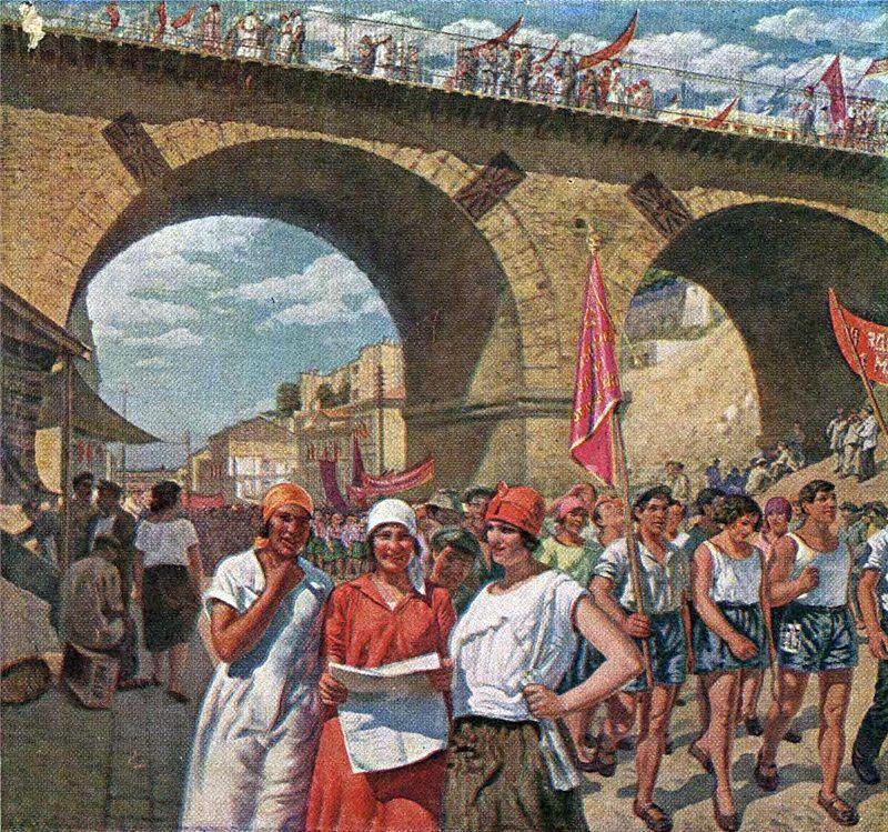 С.М. Луппов Первомайский праздник   в Одессе