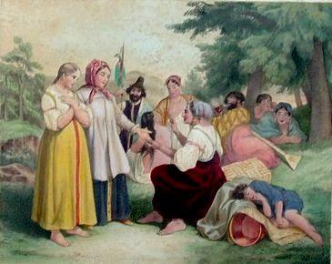 Поль Руссель  (1812-1867) Гадание