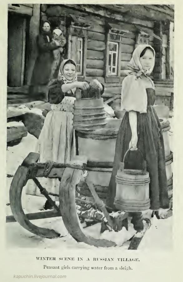 Зимняя сцена в деревне