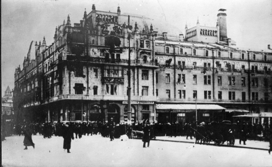 Разрушения в Москве  1917 год 1