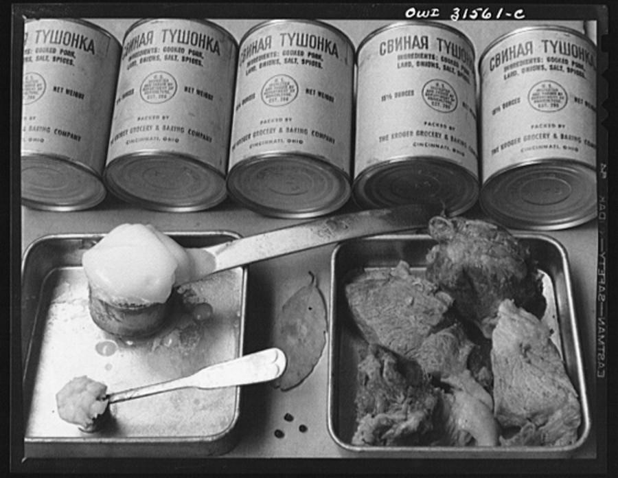 Свиная тушенка США 1943 год