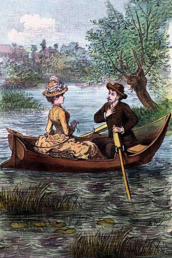 А И Лебедев На даче 1866 год