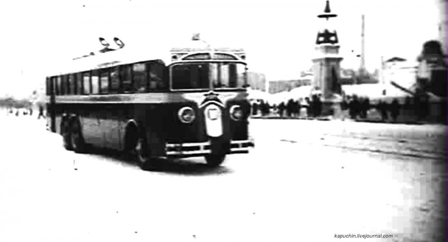 Московский троллейбус 1934 кадр
