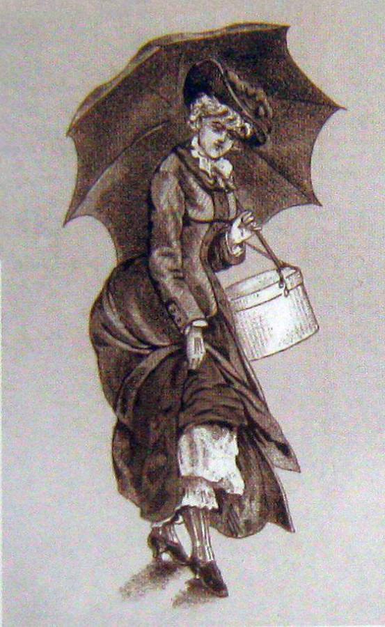 В дождик гравюра 1884 год