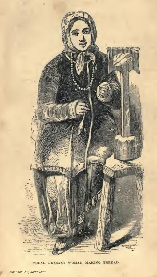 Молодая крестьянка, прядущая нить
