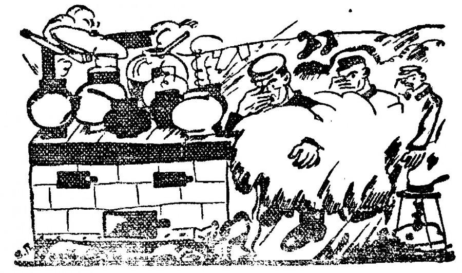 Рисунок из газеты Рабочая Москва 1925 год