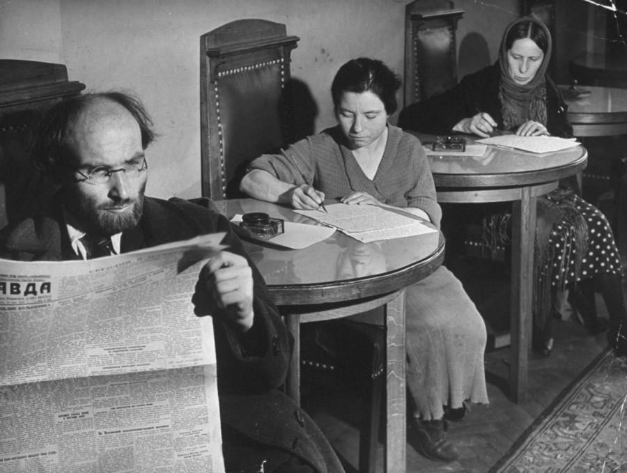 В приемной редакции газеты Правда июнь 1941 год