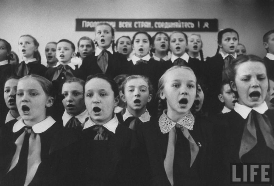 В московской школе 1958